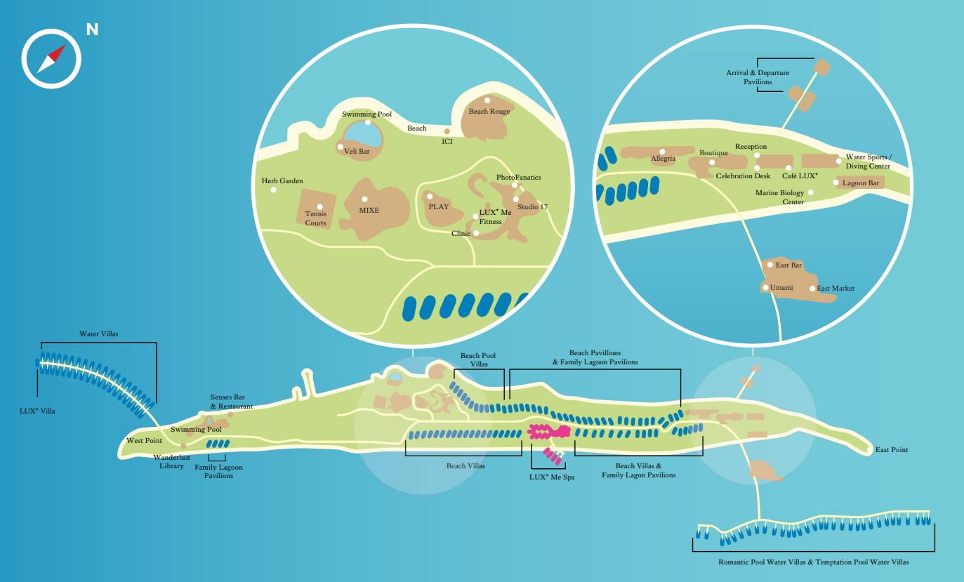 Lux South Ari Atoll Resort Map Simply Maldives Holidays